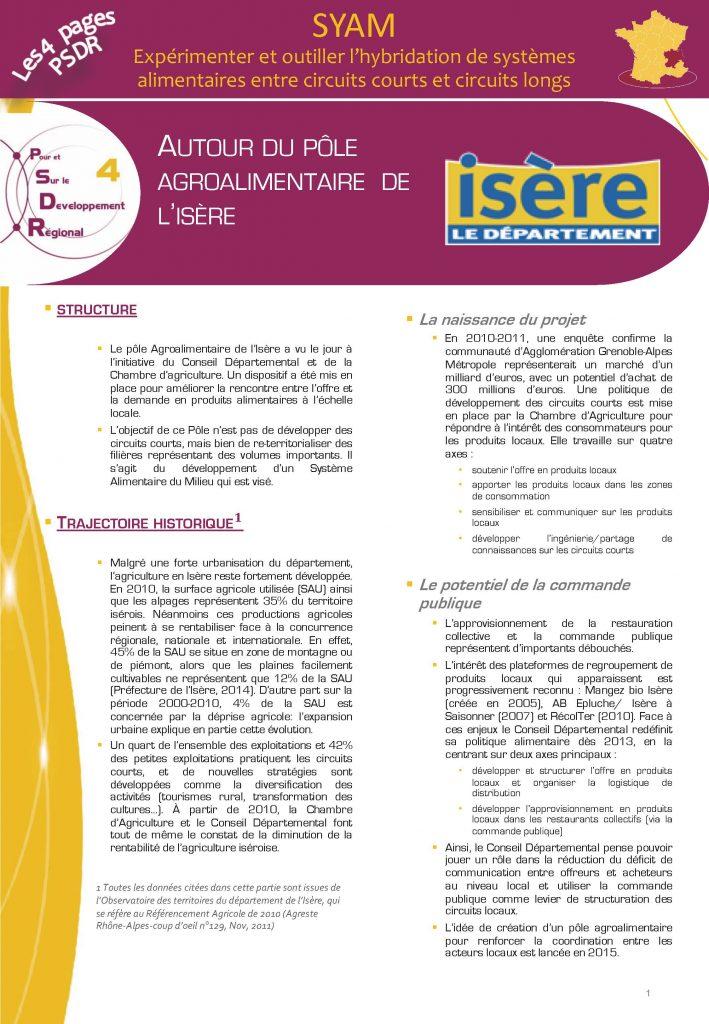 SyAM - Autour du pôle agroalimentaire de l'Isère