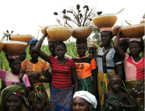 Figure 5. Women participating in dry season gardening and millet seed selection (UNDP 2015)
