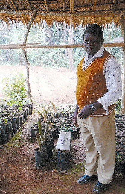 Figure 1. A nursery developed for tree dissemination to farmers; © Roger Leakey