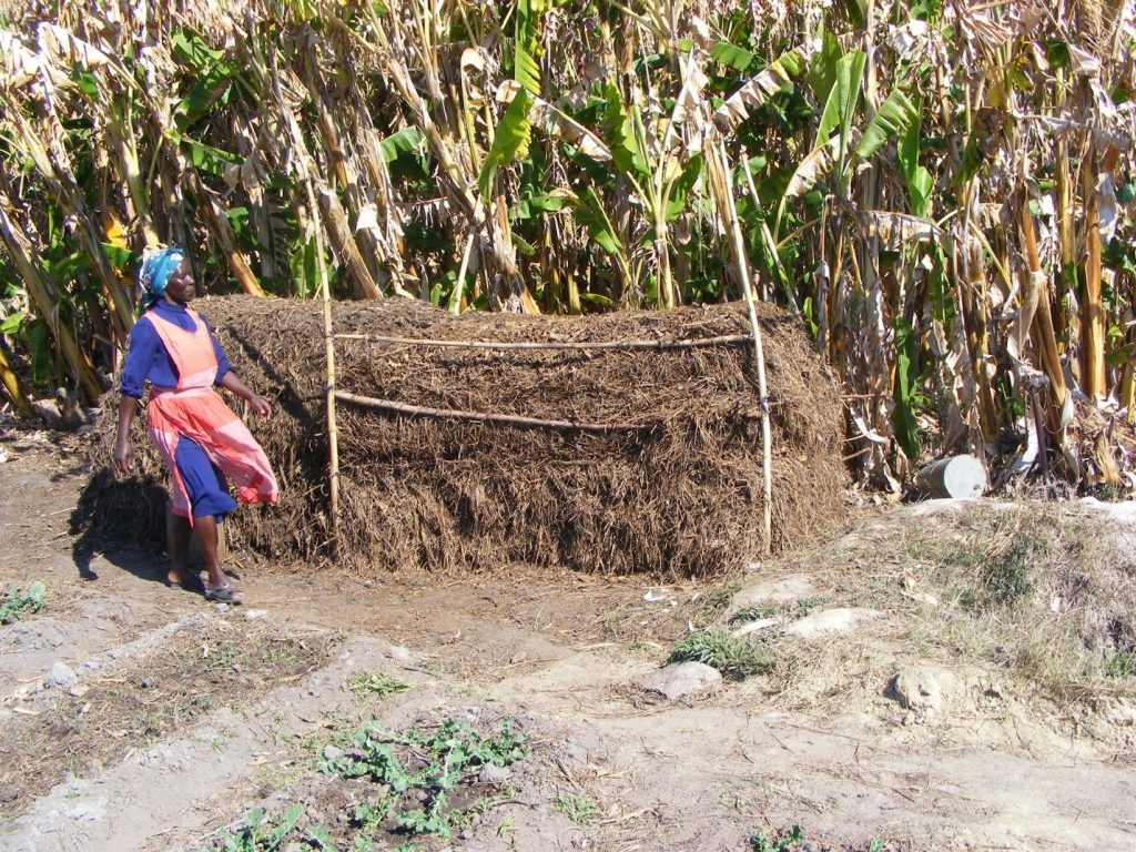 Figure 2. Farmers use prepared livestock manure and compost to fertilise fields and gardens; © G. McAllister